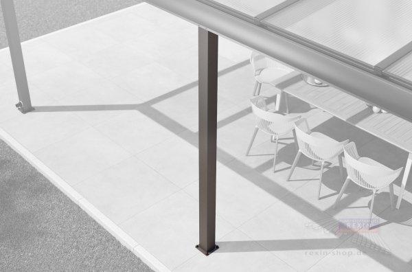 Aluminium-Zusatzpfosten-Set Detail