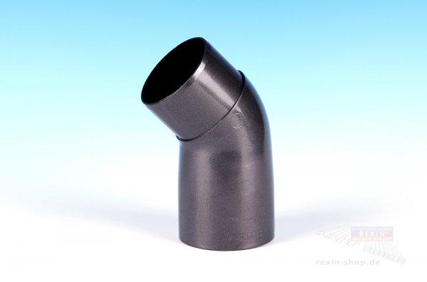 Kunststoff-Rohrbogen 45°, anthrazit