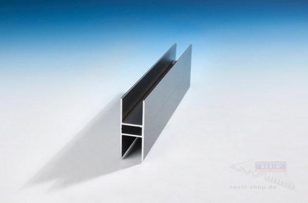 rexoboard alu h profil f r 16mm platten anthrazit rexin shop. Black Bedroom Furniture Sets. Home Design Ideas
