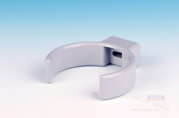 Kunststoff-Rohrschellen-Clip, grau