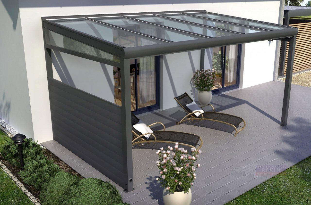Rexin REXOcover Terrassen-Seitenwand 1,50m H'he