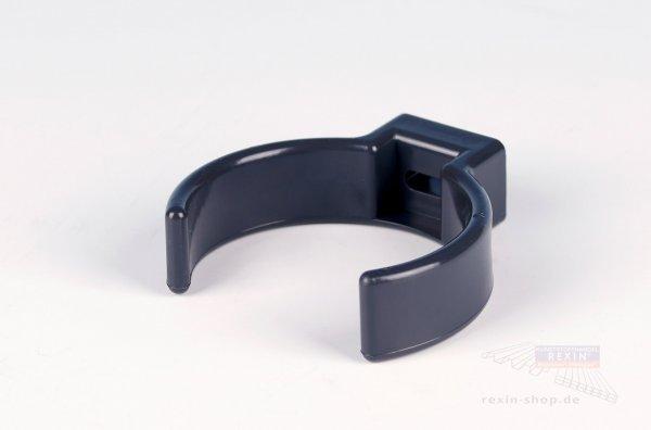 Kunststoff-Rohrschellen-Clip, anthrazit