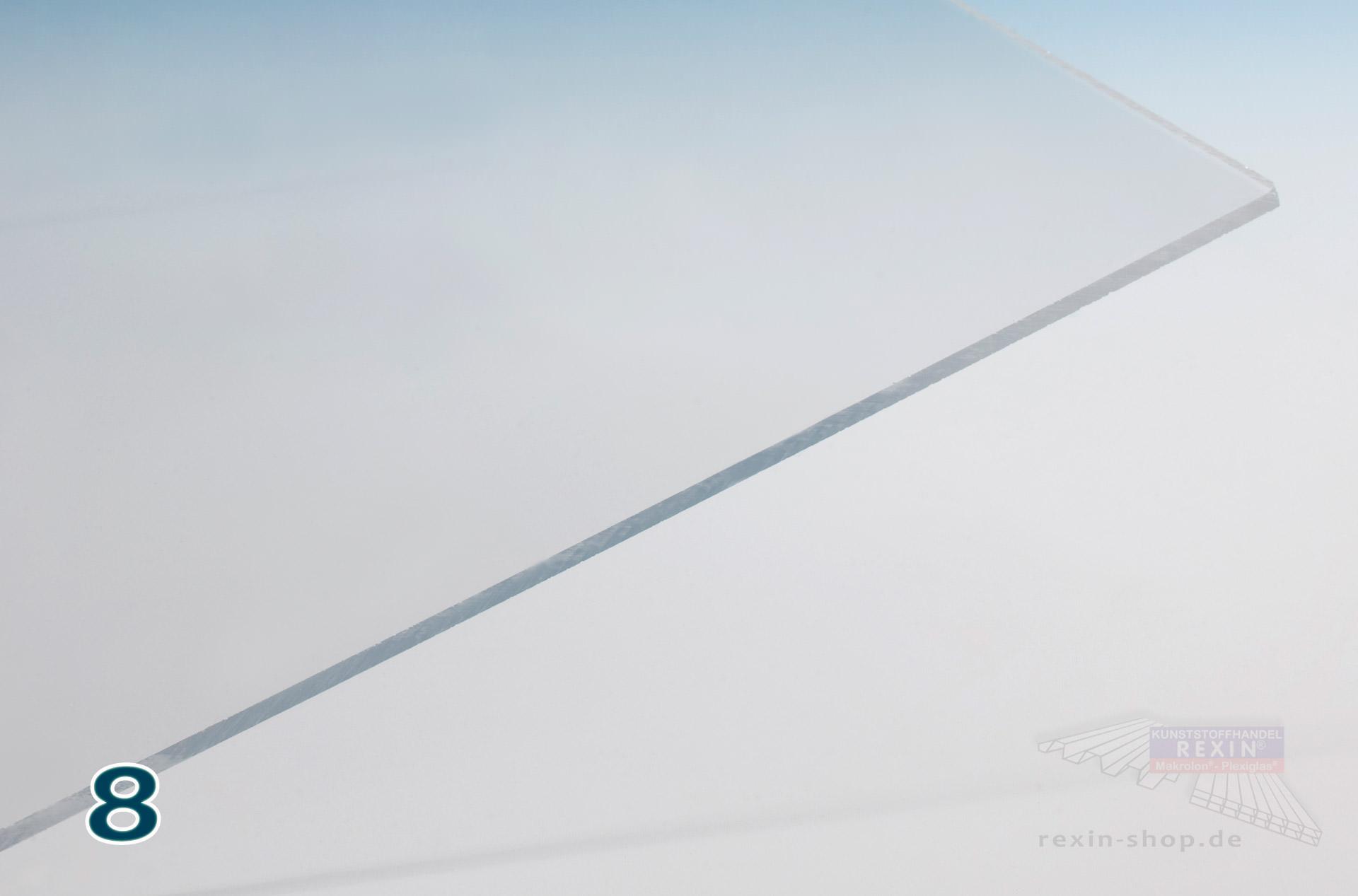8 mm, 500 x 250 mm Makrolon//Polycarbonat Scheibe//Platte Zuschnitt 2-8 mm transparent//klar