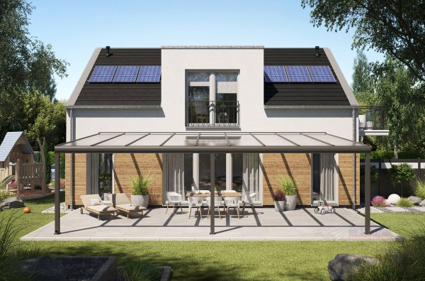 REXOpremium XXL Alu Terrassenüberdachung 9m x 5m