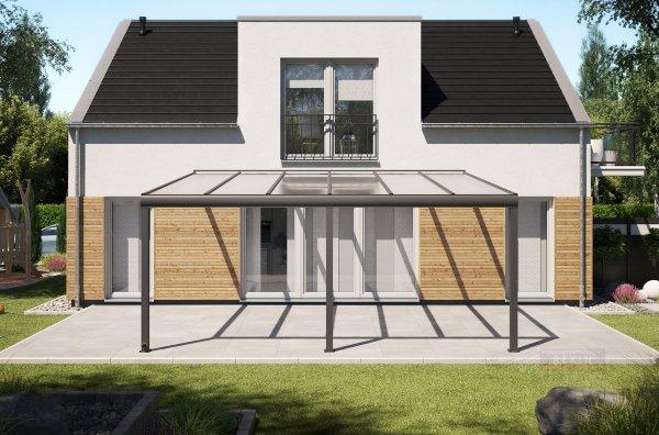 Alu-Terrassendach REXOpremium 6x5m