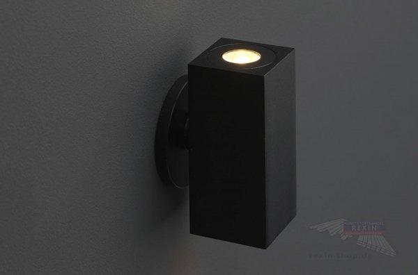 REXOlight LED Up & Down Strahler, eckig, Farbe schwarz