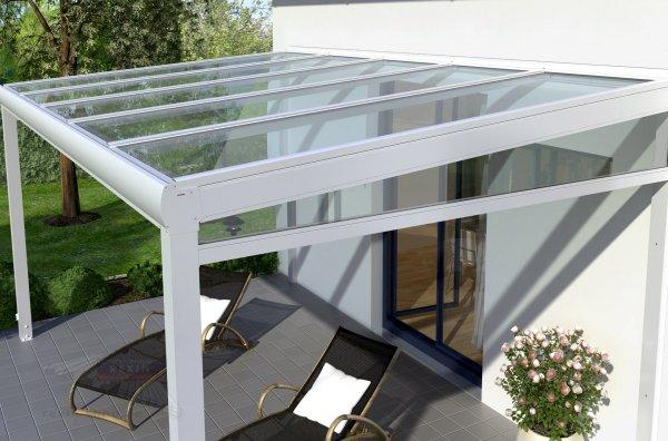 REXOclassic Seitenkeil - für 2,50m Dachtiefe, inkl. 5mm Plexiglas