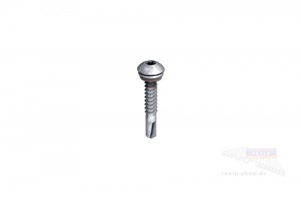 Bohrschrauben 5.5 x 25mm Super-Saphir, Flachrundkopf, 10er Set