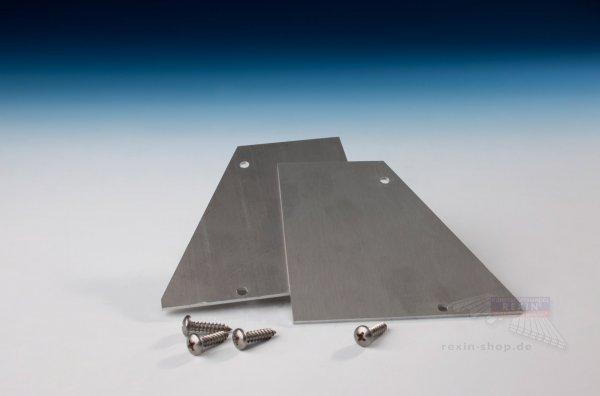 REXOsystem Alu-Wandanschluss-Endkappen, 2er Set mit Schrauben