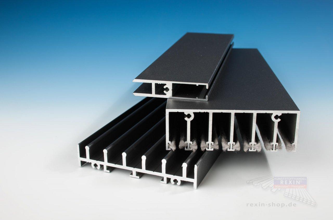 Rexin Glaswand fĂĽr die Terrasse - 6m breit, vorbereitet fĂĽr 8mm Glas