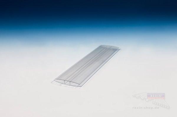 H-Profil aus Polycarbonat, transparent, für 6mm Platten