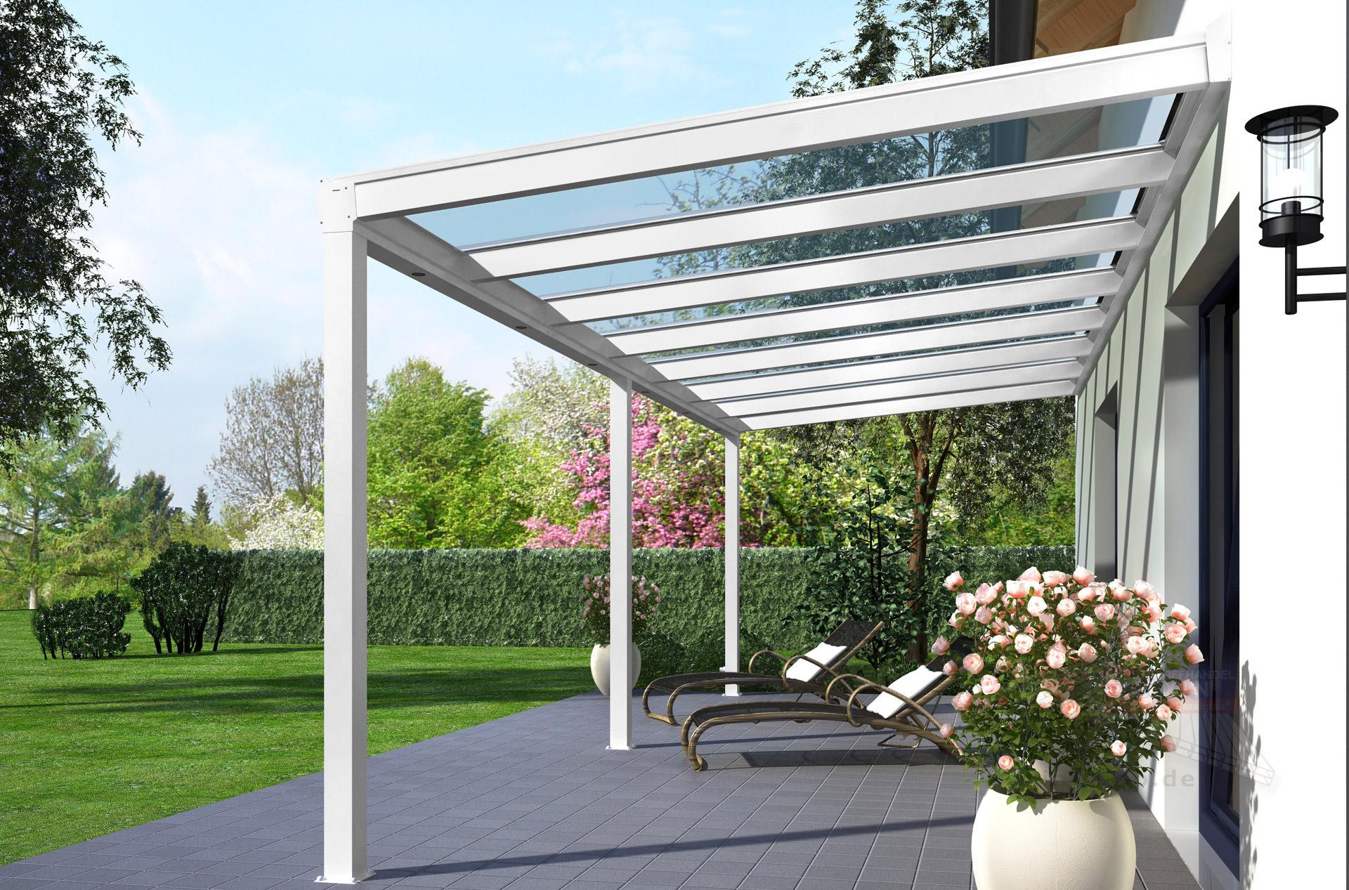 Rexopremium Alu Terrassendach 6m X 2 5m Vsg Glas Rexin Shop