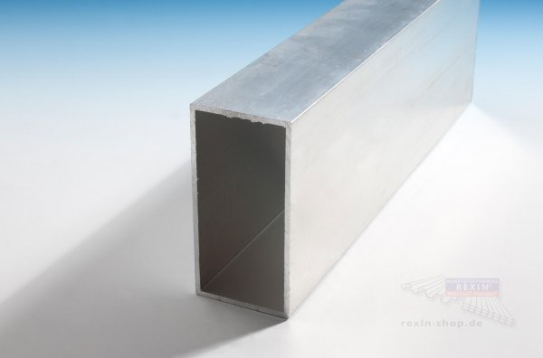 Aluminium-Rechteckrohre 80mm x 60mm x 3mm, pressblank