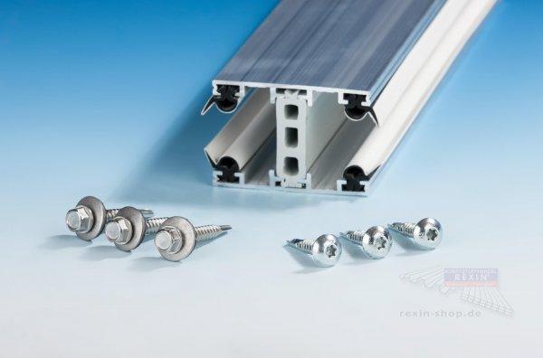 Schrauben-Set für Alu-Thermo-Profile 25mm, auf Metall
