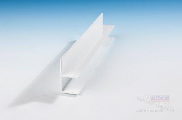 REXOboard Alu-F-Profil, weiß