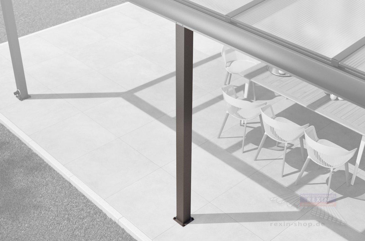Rexin Aluminium Zusatz-Pfosten-Set