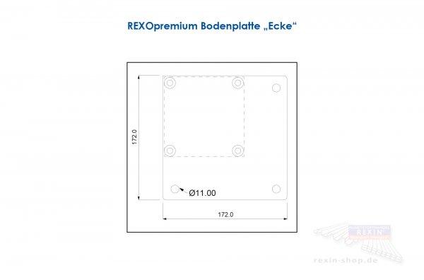 """REXOpremium Bodenplatte """"Ecke"""", anthrazit"""