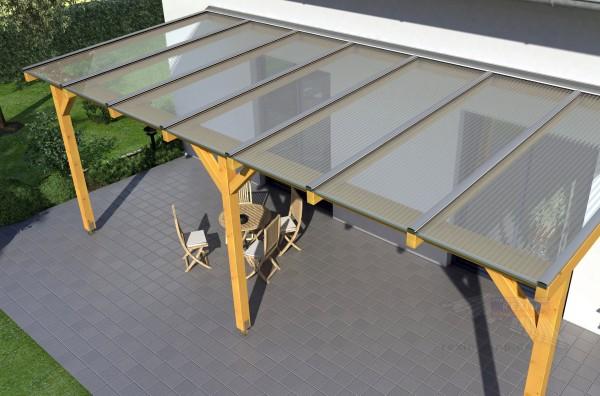 REXOcomplete Holz Terrassenüberdachung 6m x 4m