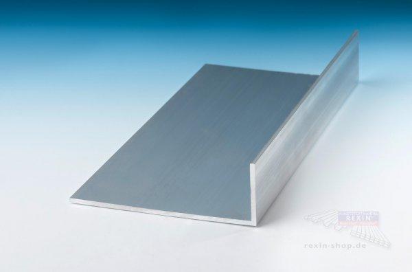 Aluminium-Winkelprofile 60mm x 40mm x 2mm, pressblank