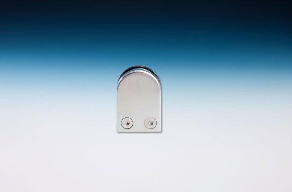 Glashalter Edelstahleffekt, mit geradem Anschluss