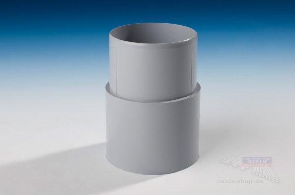 Kunststoff-Rohrmuffe zum Stecken, grau