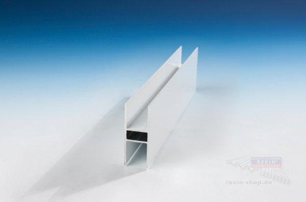 REXOboard Alu-H-Profil für 16mm Platten, weiß