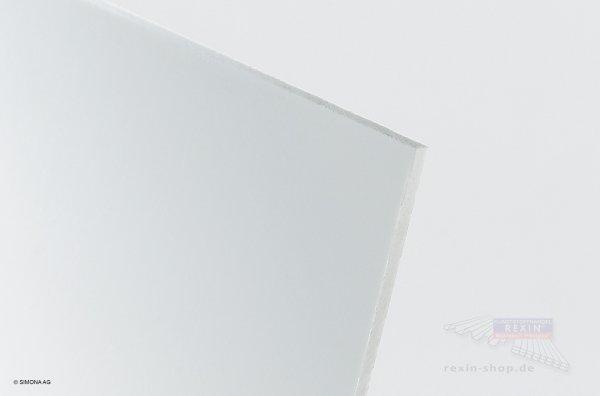 Hart-PVC Platte, weiß