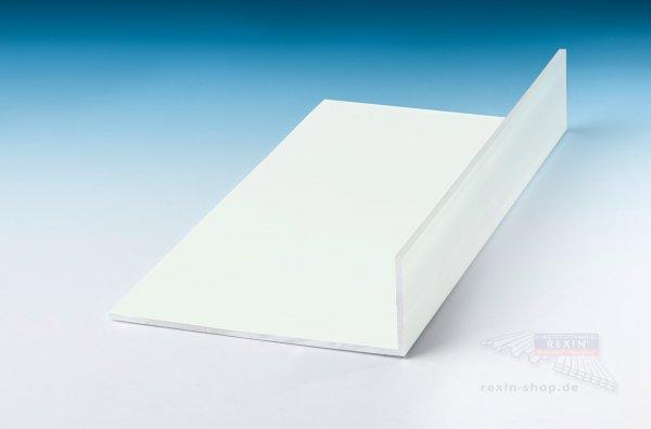 Aluminium-Winkelprofile 60mm x 40mm x 2mm, weiß