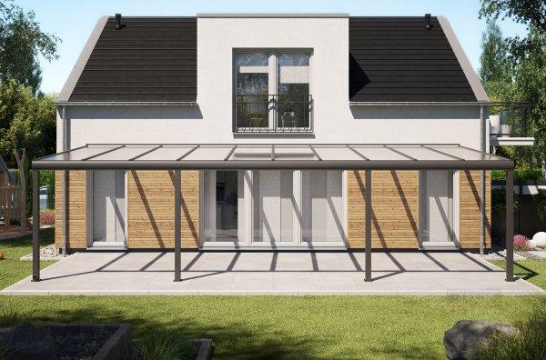 Alu-Terrassendach REXOpremium 10x4m