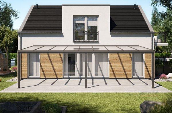 Alu-Terrassendach REXOpremium 9x4m