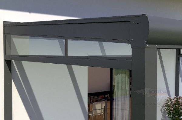 REXOpremium Seitenkeil - für 4,50m Dachtiefe, inkl. 5mm Plexiglas
