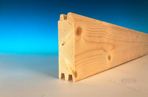 REXOcover Wood Holz-Trennwandprofil, 39x121mm, natur
