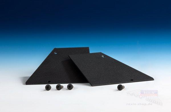 REXOsystem Alu-Wandanschluss-Endkappen anthrazit, 2er Set mit Schrauben