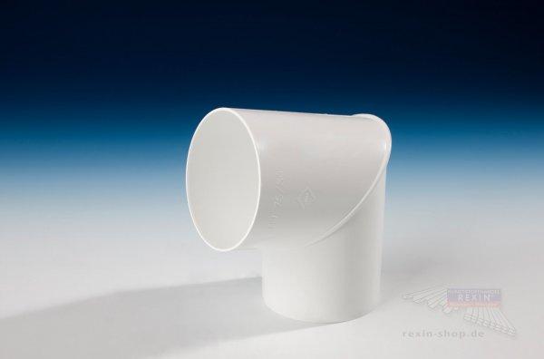 Kunststoff-Rohrbogen 87°, weiß