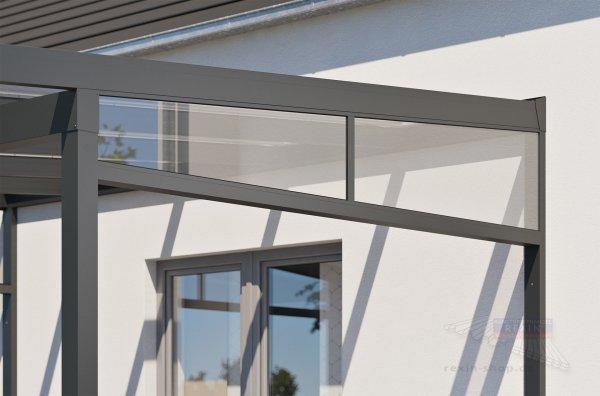 REXOclassic Seitenkeil - für 4,50m Dachtiefe, inkl. 5mm PLEXIGLAS®