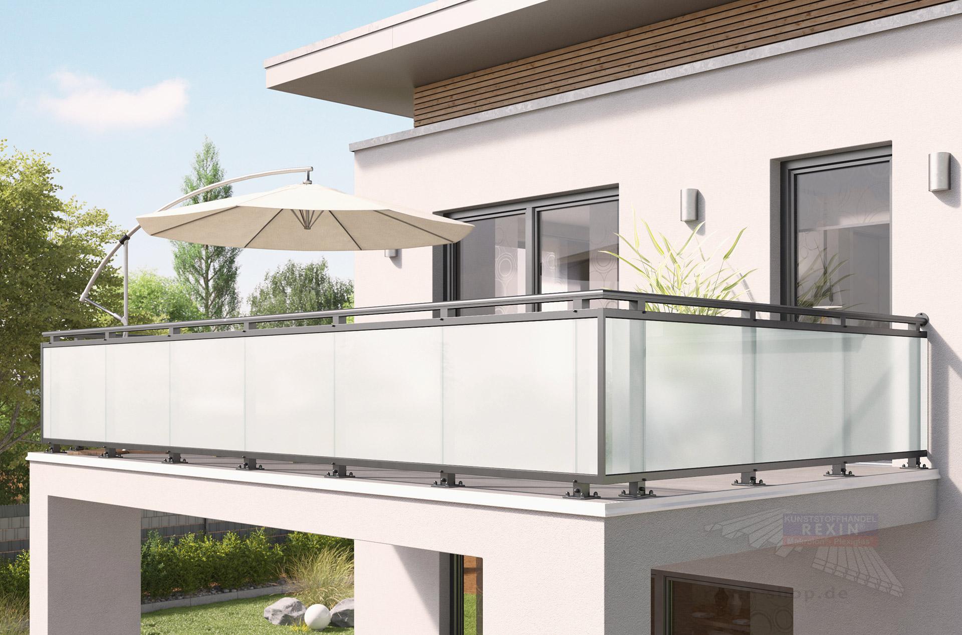 Rexoguard Balkongelander Fullung 4m Mit Vsg Glas Rexin Shop