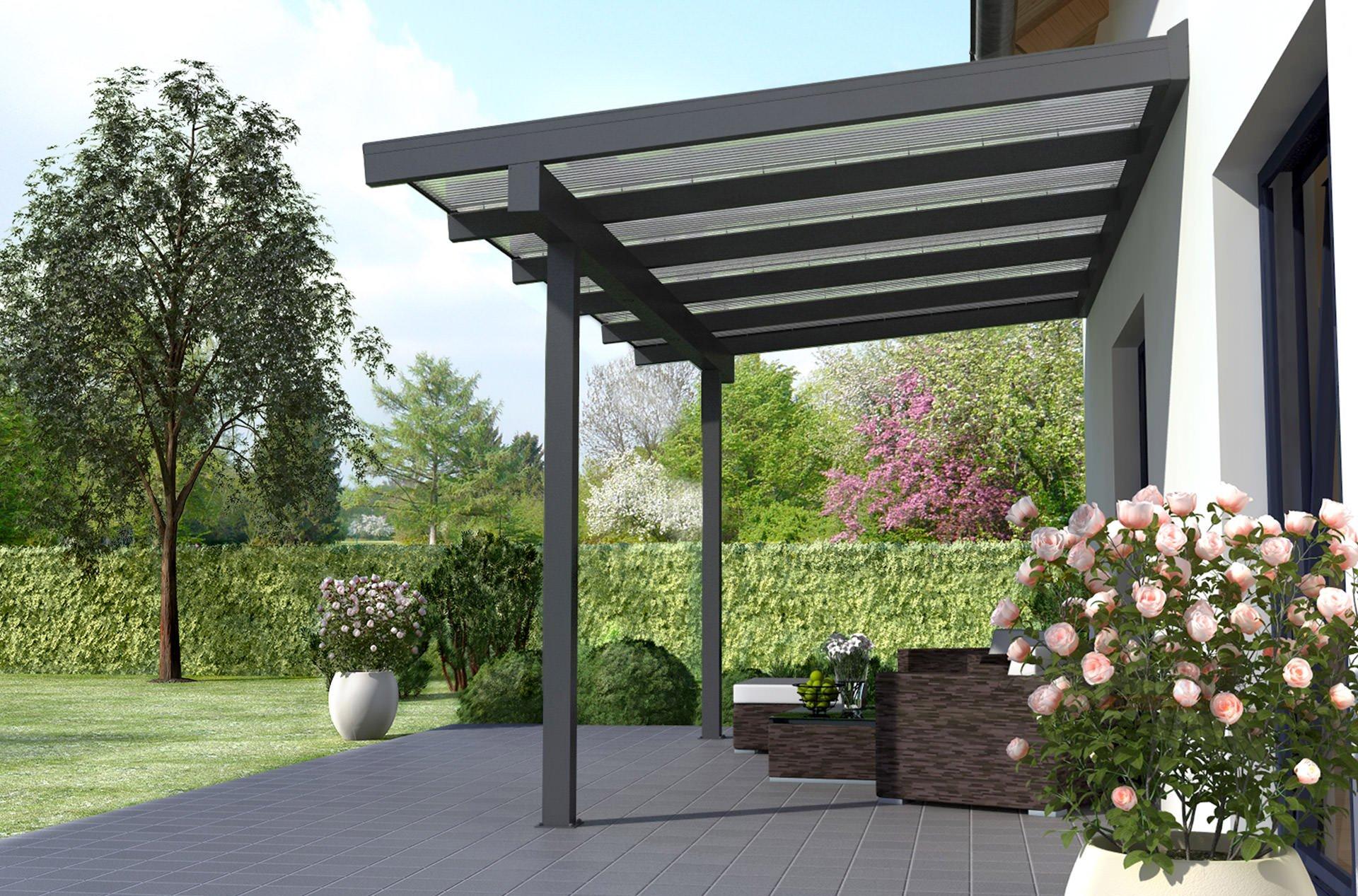 rexoclassic xxl alu terrassenüberdachung 8m x 3,50m ▷ rexin-shop, Hause deko