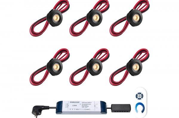 REXOlight LED-Einbaustrahler, schwarz