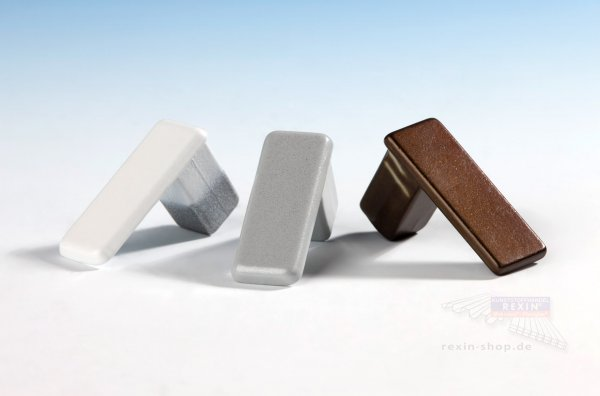 PVC-Endkappen für Alu-Rahmenprofil, braun