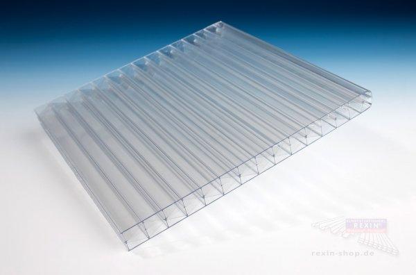 REXOclear 3-fach-Stegplatte, 16mm (X-Struktur), transparent