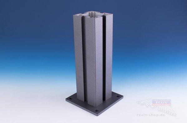 REXOcover Vario 4er Nut-Pfosten-Set, für 1,20 m Höhe
