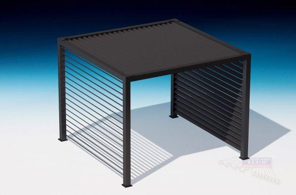 REXOcube Pergola 4m x 3m mit 40° Lamellendach & Seitenwand **Prototyp**