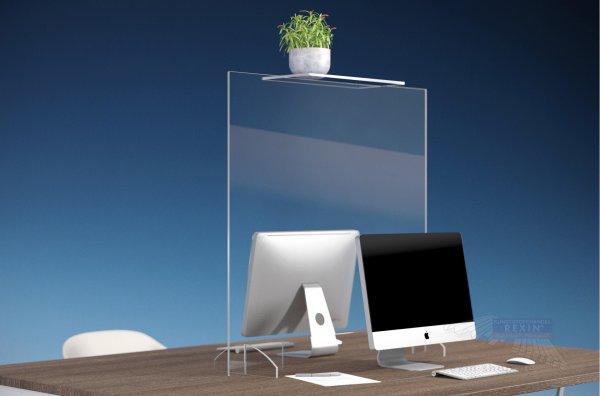 Spuckschild Niesschutz für Büros, Doppel-Arbeitsplätze, Kundenberatung