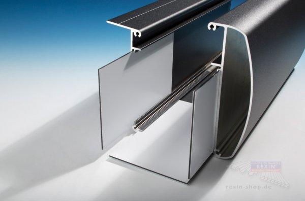 REXOdrop XL Rinnenverbinder, 3 tlg. aus Aluminium