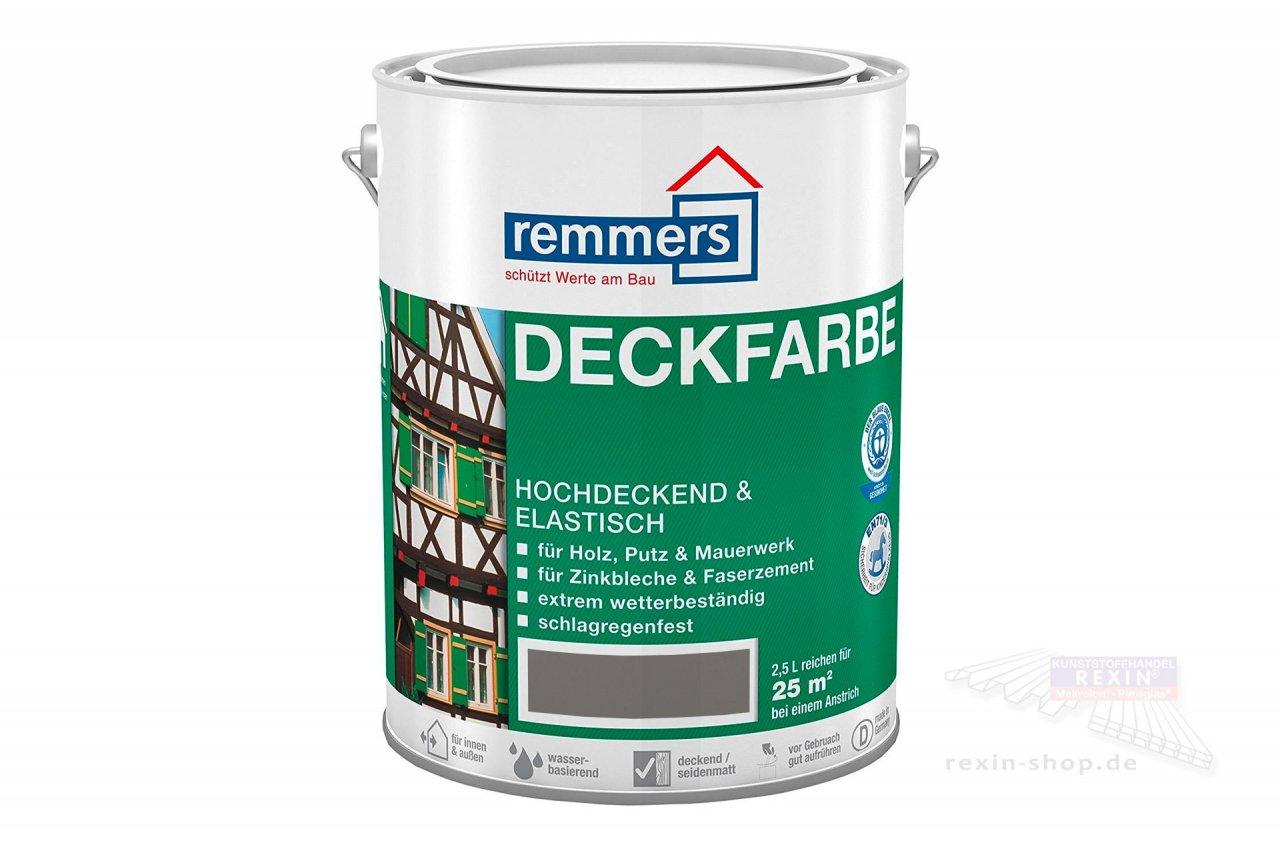 Remmers Deckfarbe, anthrazitgrau, 2,5 ltr.