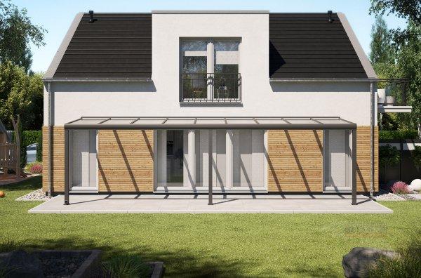 Alu-Terrassendach REXOpremium 9x2m