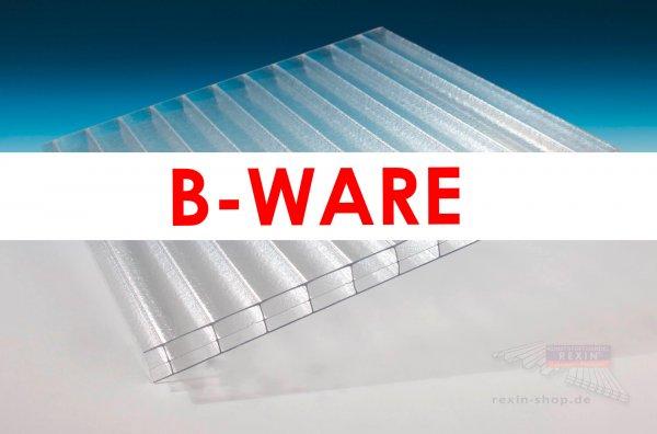 REXOclear 3-fach-Stegplatte, 16mm, eiskristall (transparent) *B-WARE*