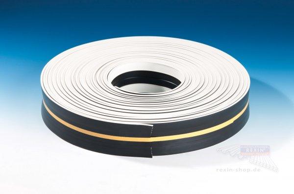 REXOsystem Weichgummi-Profilband, selbstklebend, schwarz-weiß