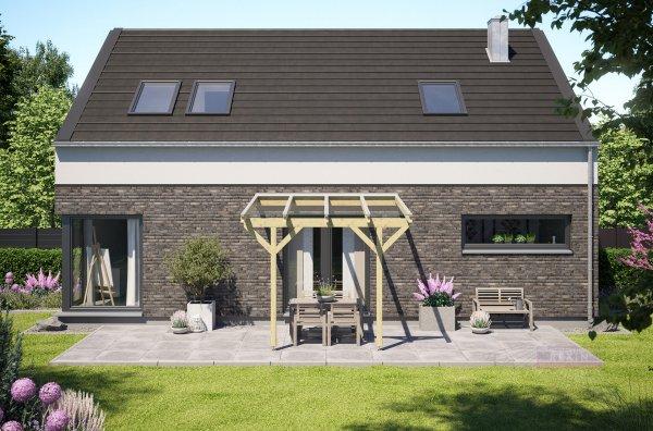 REXOcomplete Holz Terrassenüberdachung VSG 3m x 3m