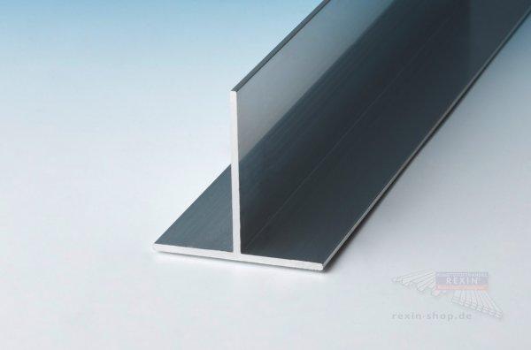 Aluminium-T-Profil 40mm x 40mm x 2mm, pressblank